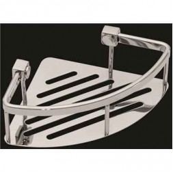 Contour Corner Basket, Polished Stainless Steel-8 in.