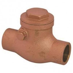 1/2 in. C x C Lead Free Swing Check Valve with Brass Body