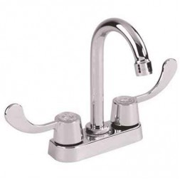 4 in. Centerset 2-Handle Bar Faucet with Wrist Blade Handles