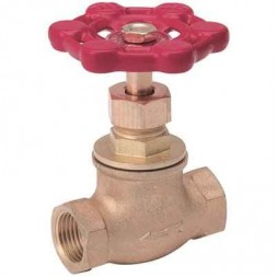 1/2 in. Brass FPT Stop Valve Threaded