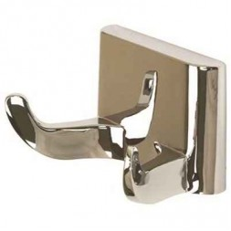 Bathroom Wall Mounted Double Robe Hook in Chrome