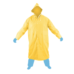 Raincoat with hood Yellow Color