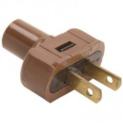 15 Amp 125-Volt Attachment Plug with Terminal Screws in Brown