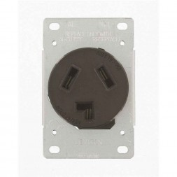 Flush Mount Dryer 3-wire Receptacle